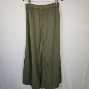 pistola Skirts - NWT Pistola Army Green Button Front Maxi Skirt